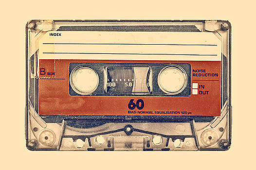 Retro styled image of an old compact cassette by Martin Bergsma