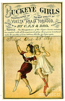Retro Tobacco Label 1869 f by Padre Art