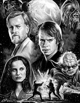 Revenge of the Sith bw by Andrew Read