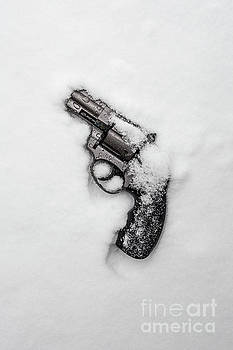 Revolver in the snow by Edward Fielding