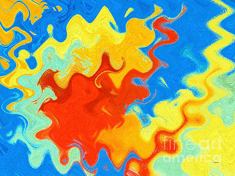 Revolving Waters - Colorful Abstract Painting by Claudia Ellis by Claudia Ellis