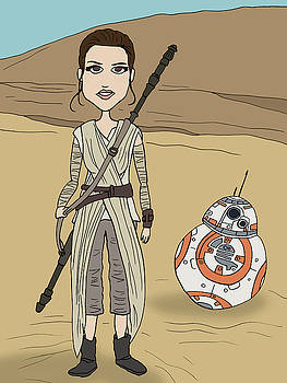 Rey and BB8 by Brian Cattapan