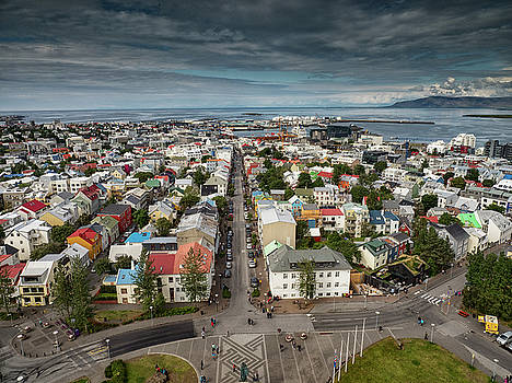 Stephen Barrie - The Roof Tops of Reykjavic