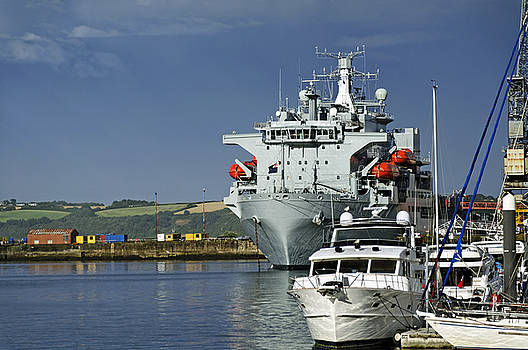 RFA Argus at Falmouth Docks by Rod Johnson