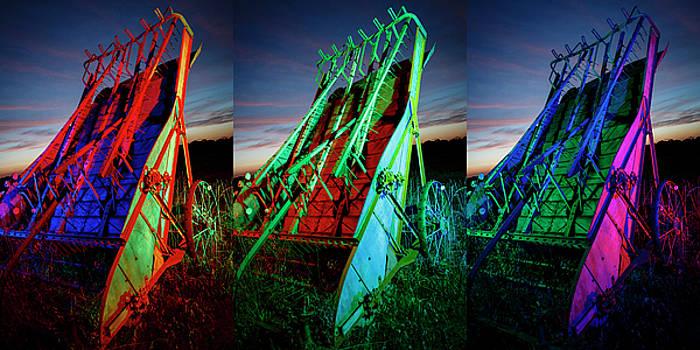 RGB Farm Implement Tripych by Notley Hawkins