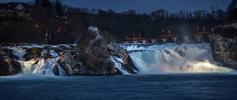 Rhine Falls at Night by Antonio Violi