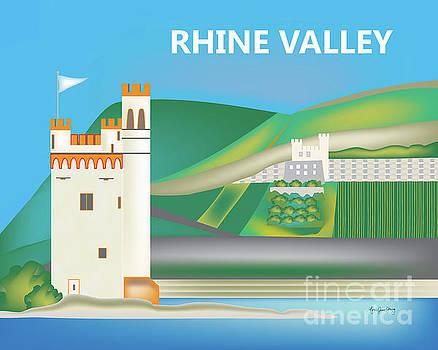 Rhine Valley, Germany Horizontal Scene by Karen Young