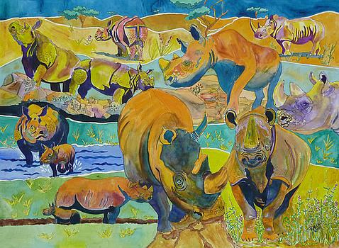 Rhinoceri by Karen Merry