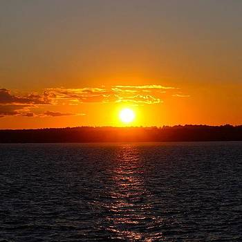 Rhode Island #sunset #sun #water #light by Kerri Ann Crau