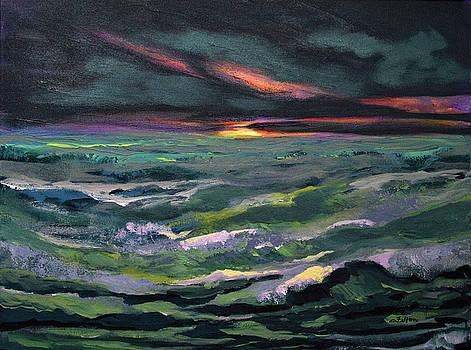 Rhythmic sunrise sea by Julianne Felton
