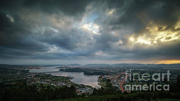 Ria de Ferrol From Mount Ancos Panorama by Pablo Avanzini