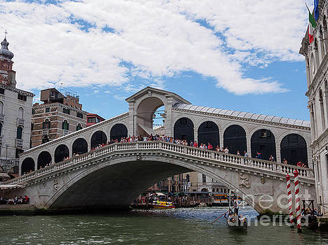 Rialto Bridge in the Grand Canal in Venice by Louise Heusinkveld