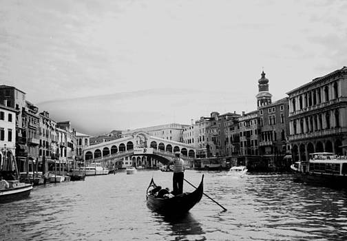 Rialto Bridge in Venice  by Heike Hellmann-Brown