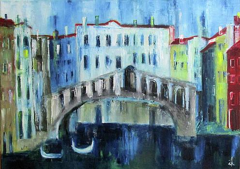 Rialto Bridge In Venice by Ingrid Knaus