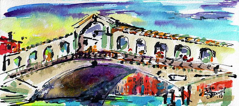 Ginette Callaway - Rialto Bridge Sunny Venice Italy