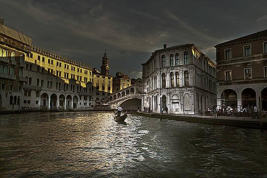 Rialto Bridge Venice by John Hix