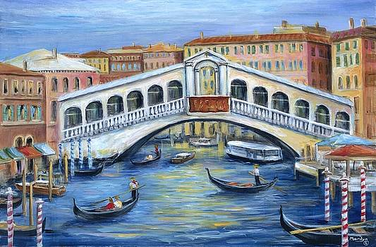 Rialto Bridge Venice by Marilyn Dunlap