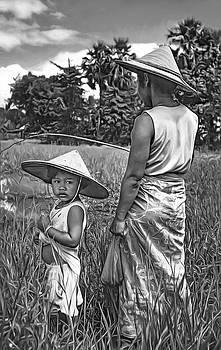 Steve Harrington - Rice Paddy Fishing bw