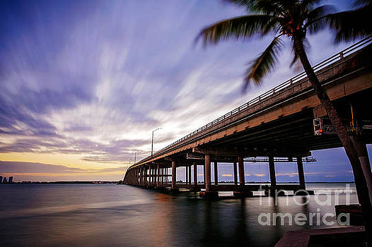 Rickenbacker Causeway before sunrise by Eyzen M Kim