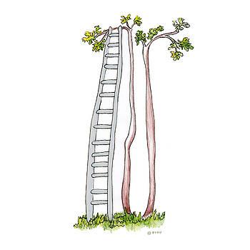 Rickety Ladder by Fran Henig
