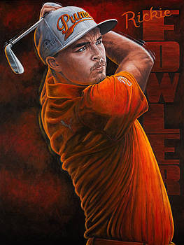 Rickie Fowler by Sports Art World Wide John Prince