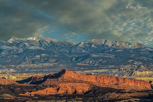 Ridge of Red rock by Mitch Johanson