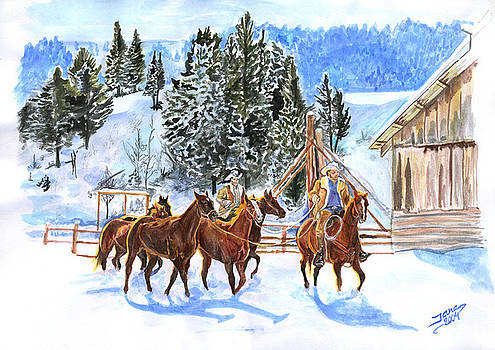 Riding home for Christmas by Jana Goode