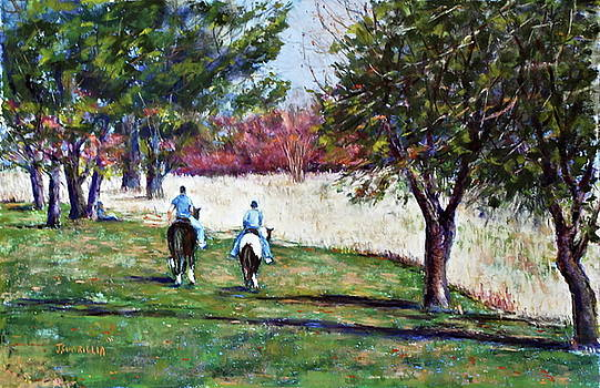 Riding in Valley Forge by Joyce A Guariglia