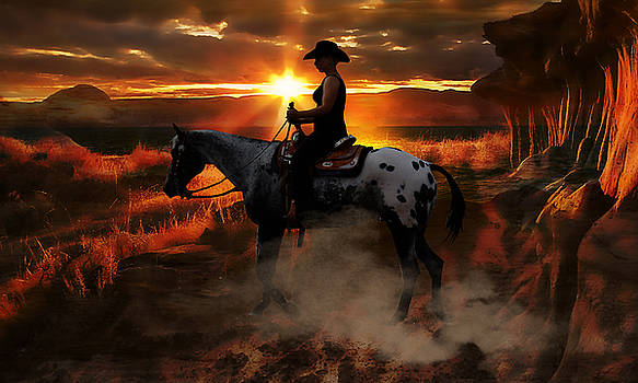 Riding Into The Sunset by Marvin Blaine