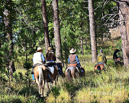 Riding Trails In The Black Hills by Kathy M Krause