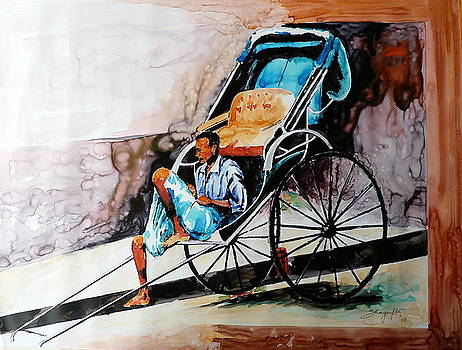 Rikshaw Puller by Shagufta Mehdi