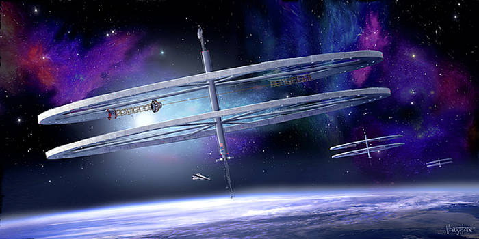 James Vaughan - Ringed Space Stations - blue