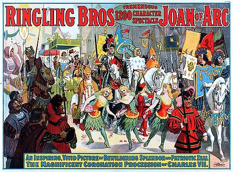 Ringling Bros tremendous spectacle Joan of Arc, circus poster, 1912 by Vintage Printery