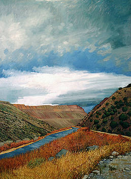 Rio Grande At Pilar by Donna Clair