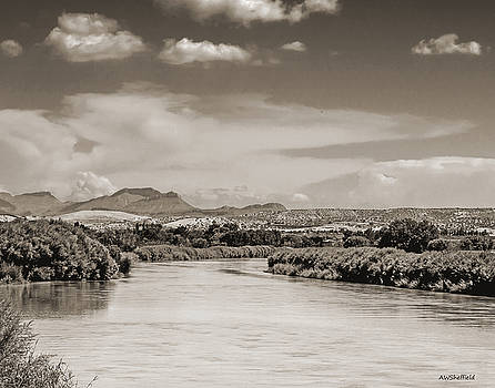 Allen Sheffield - Rio Grande in Sepia
