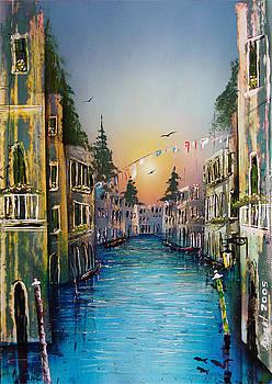 Rio Madalena  Venice by Angel Ortiz