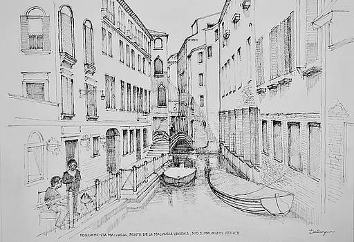 Rio San Maurizio Venice by Dai Wynn