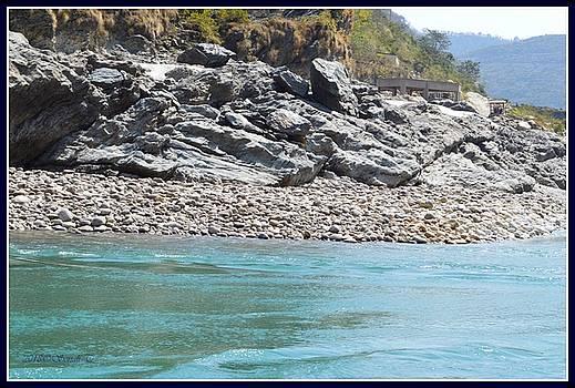 River Alaknanda by Sonali Gangane