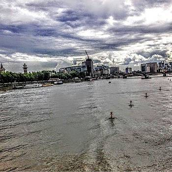 River And Clouds In London #london by Emmanuel Varnas