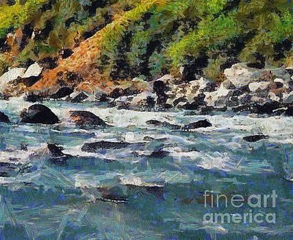 River and hill by Ashish Agarwal