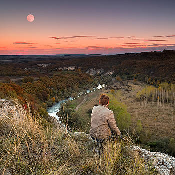 River and Moon by Evgeni Dinev