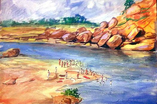 River Bank by Arjunan Kalaiselvan