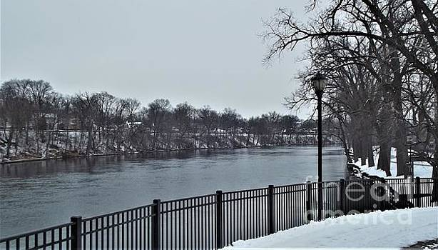 River Bank Winter         St. Joseph River             Indiana by Rory Cubel