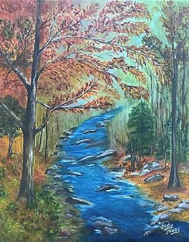 River Bend in Autumn by Judy Jones