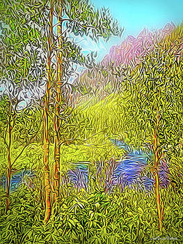 River By The Mountains by Joel Bruce Wallach
