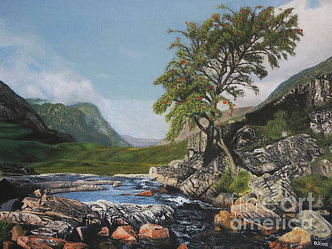 River Coe Scotland Oil on Canvas by David Rives