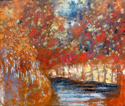 River in Autumn by Sally Sweetland