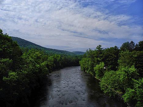 River in Cornwall Bridge Connecticut by Raymond Salani III