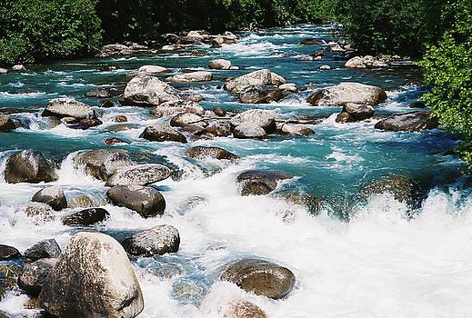 River Rapids Little Susitna Alaska by Kimberly Blom-Roemer