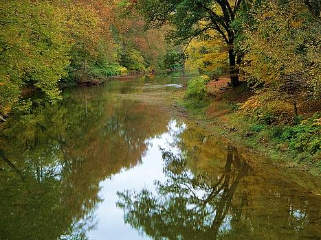 River Reflection Autumn Sunday by Terry  Wiley